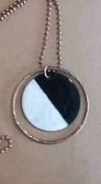 copper & glass black white